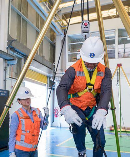 Seguridad aplicada a trabajos en altura (estándar minero)
