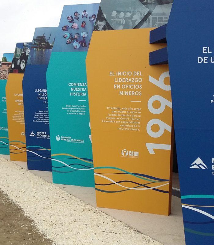 Exponor 2017 : Estand Minera Escondida & CEIM & Fundación Minera Escondida