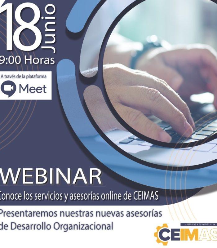 Webinar CEIMAS: «Conoce los servicios online y asesorías en Desarrollo Organizacional»