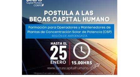 Curso para Operadores y Mantenedores de Plantas de Concentración Solar de Potencia (CSP)